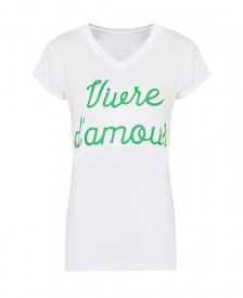 Vivre-D-Amour-It-Shirt-Wit-Groen