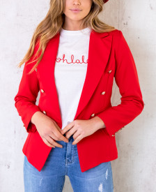 Wanted-Knopen-Blazer-Rood-6